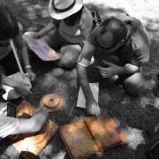 chasse au trésor et vieux outils